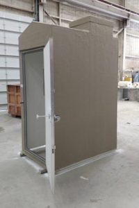 5'X7' WITH ROOF ACCESS ABOUT TO GO OUT THE DOOR